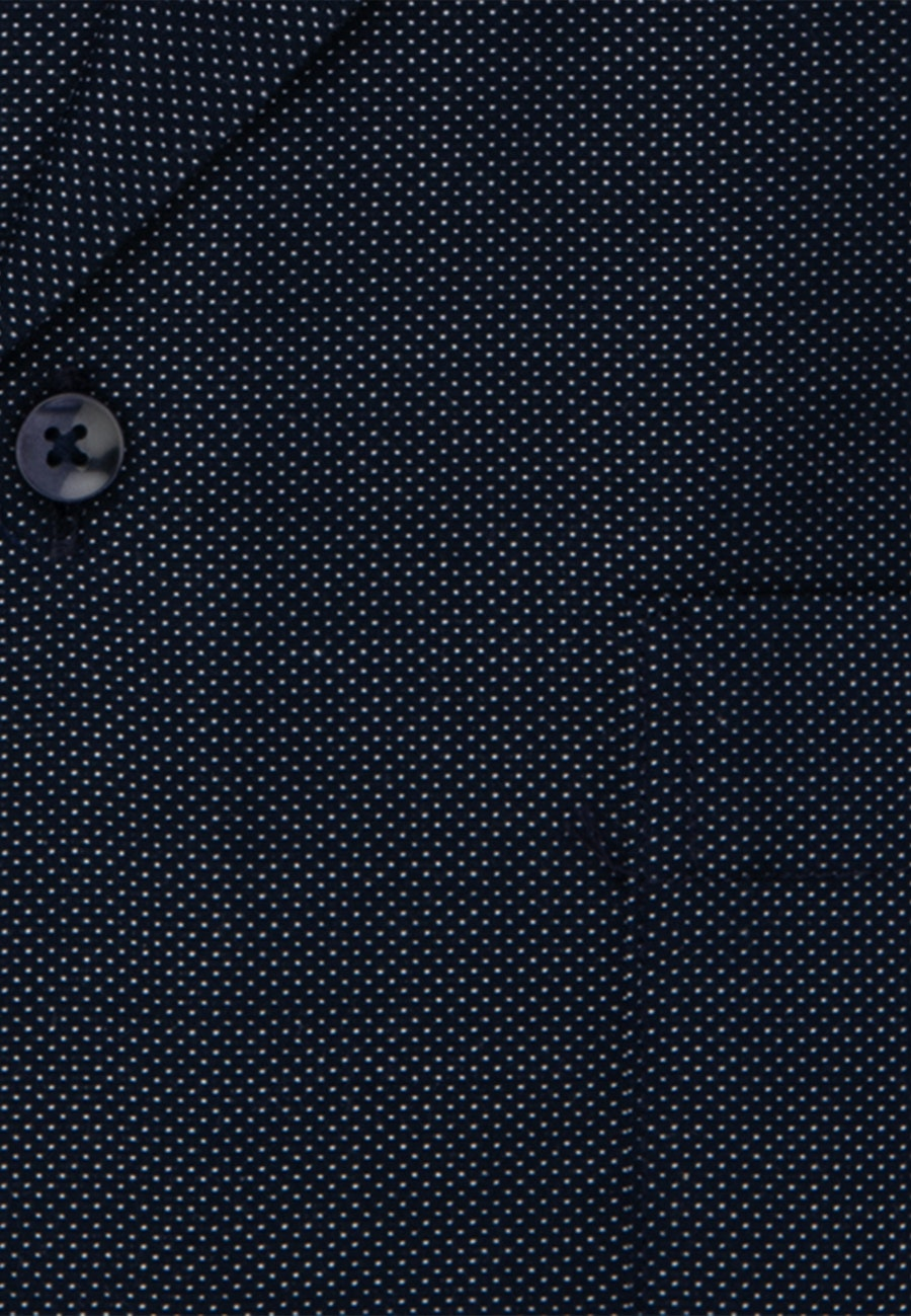 Non-iron Dobby Short sleeve Business Shirt in Regular with Kent-Collar in Dark blue    Seidensticker Onlineshop
