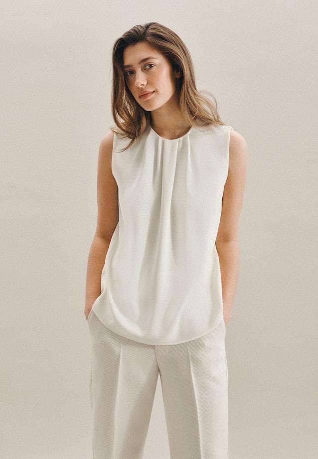 Sleeveless Krepp Shirt Blouse made of 100% Polyester in Ecru |  Seidensticker Onlineshop