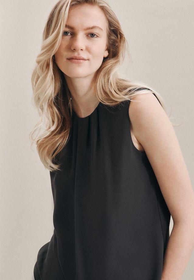 Sleeveless Krepp Shirt Blouse made of 100% Polyester in Grey |  Seidensticker Onlineshop