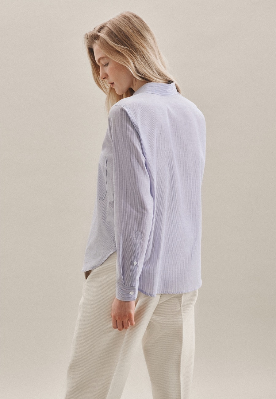 Voile Shirt Blouse made of 100% Cotton in Medium blue |  Seidensticker Onlineshop