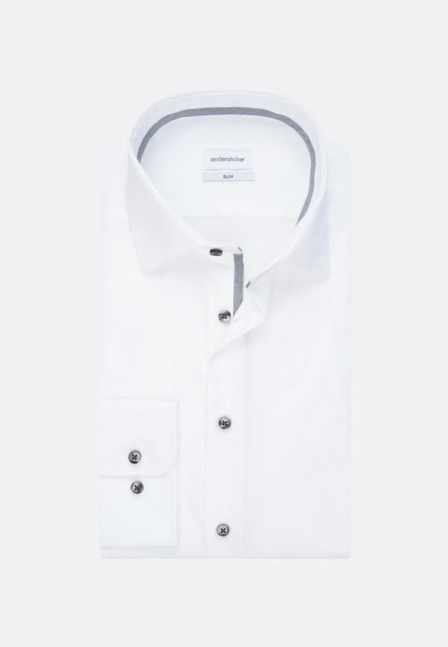 Bügelfreies Popeline Business Hemd in Slim mit Kentkragen in Weiß    Seidensticker Onlineshop