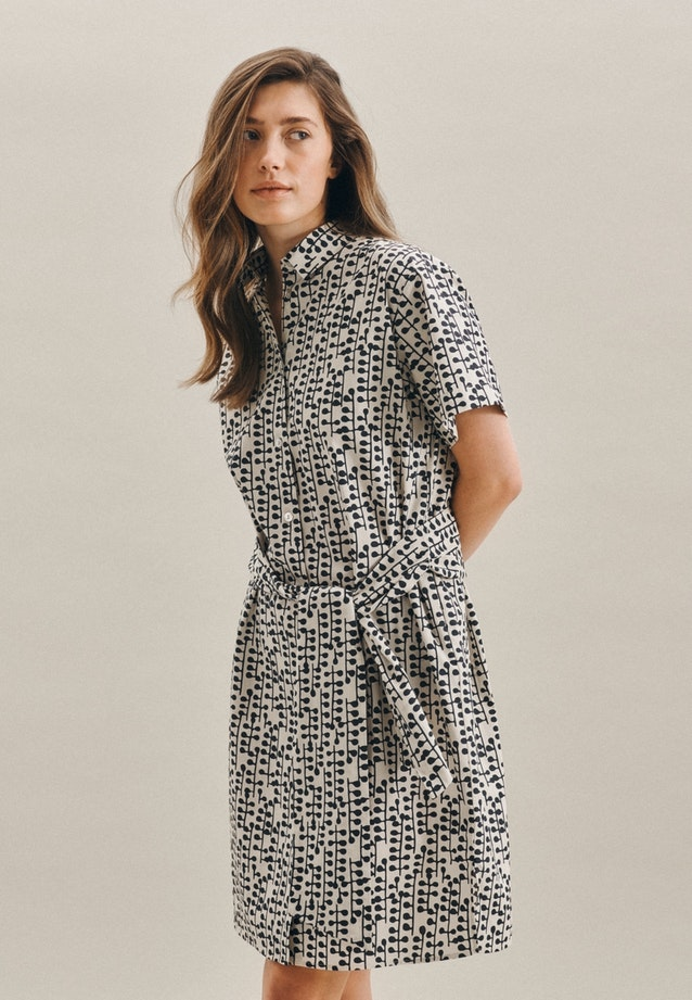 Popeline Midi Dress made of 100% Cotton in Grey |  Seidensticker Onlineshop