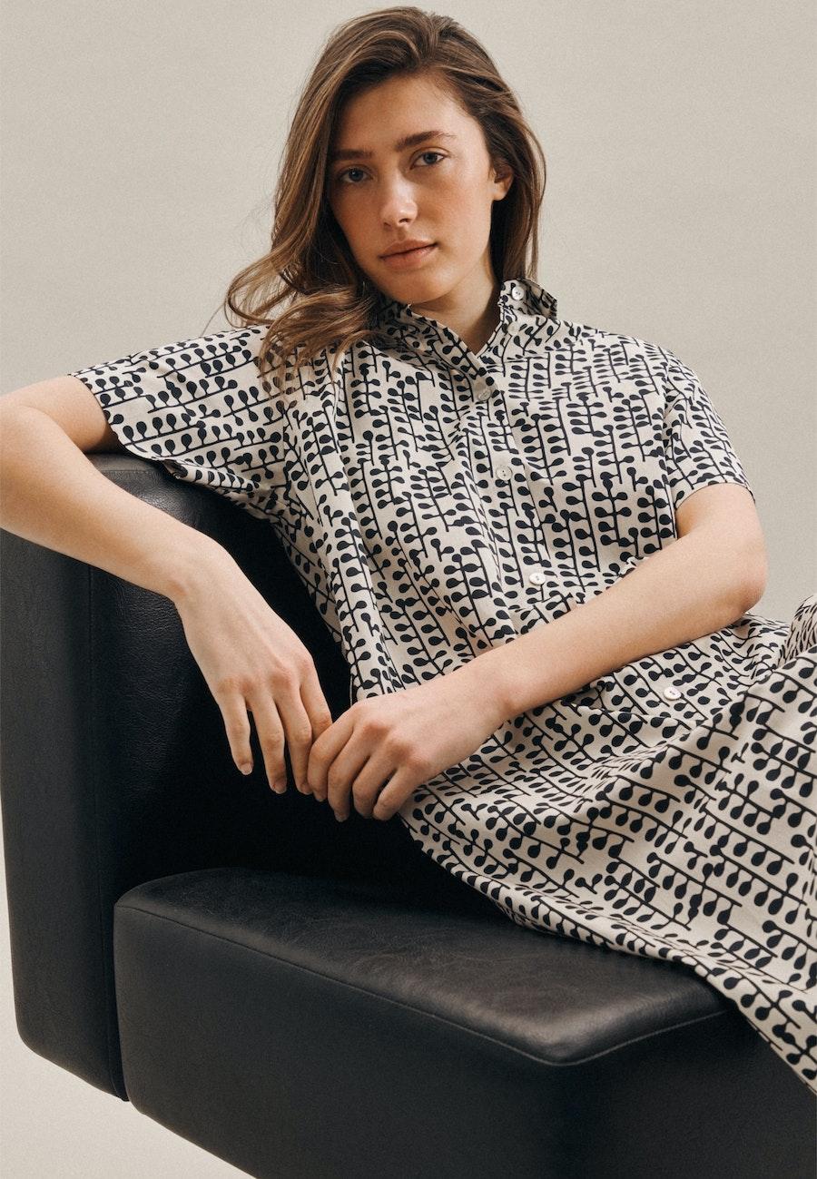 Popeline Midi Kleid aus 100% Baumwolle in Grau |  Seidensticker Onlineshop