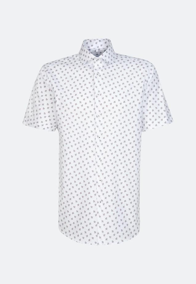 Bügelleichtes Oxford Kurzarm Business Hemd in Regular mit Kentkragen in Weiß |  Seidensticker Onlineshop