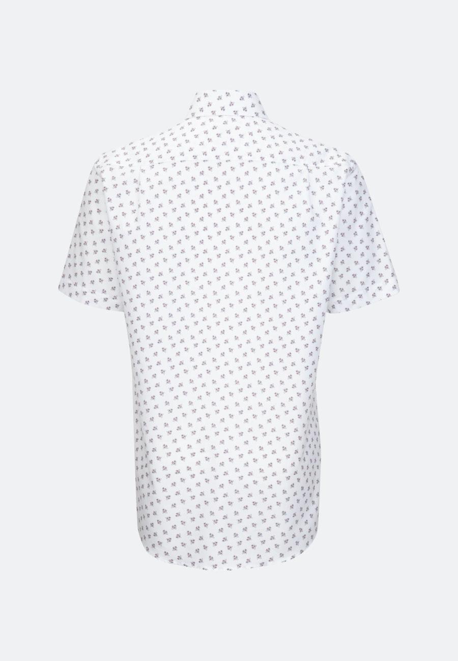 Bügelleichtes Oxford Kurzarm Business Hemd in Regular mit Kentkragen in Weiß    Seidensticker Onlineshop