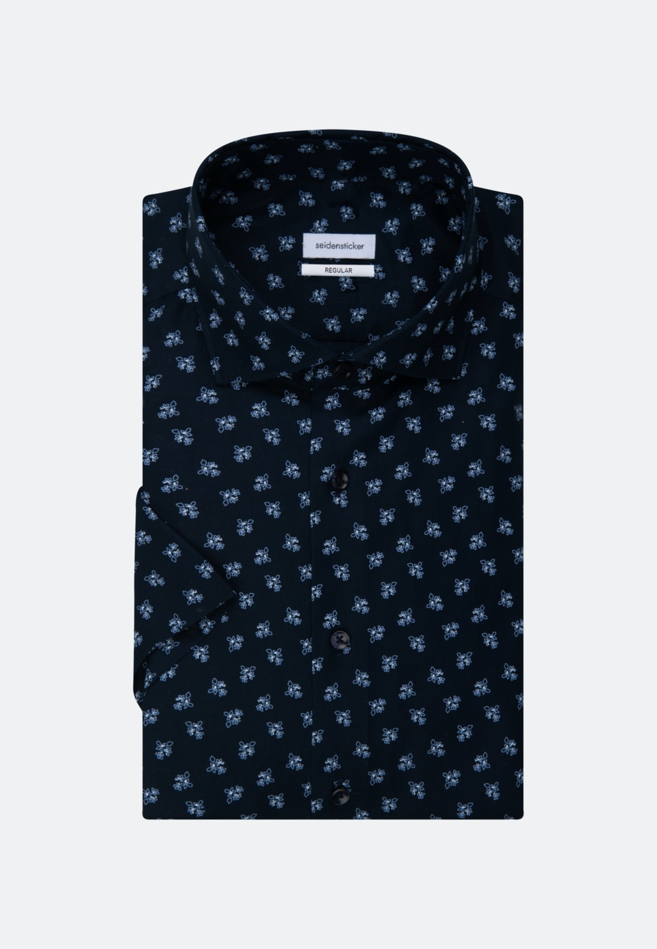 Oxfordhemd in Regular mit Kentkragen in Dunkelblau |  Seidensticker Onlineshop
