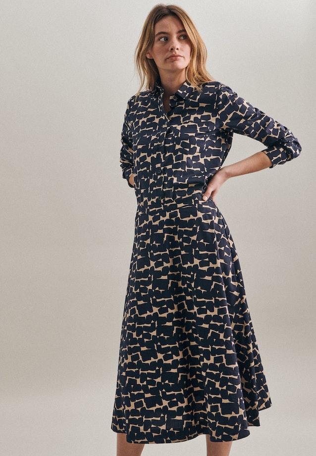 Poplin Midi Skirt made of 100% Cotton in Dark blue |  Seidensticker Onlineshop