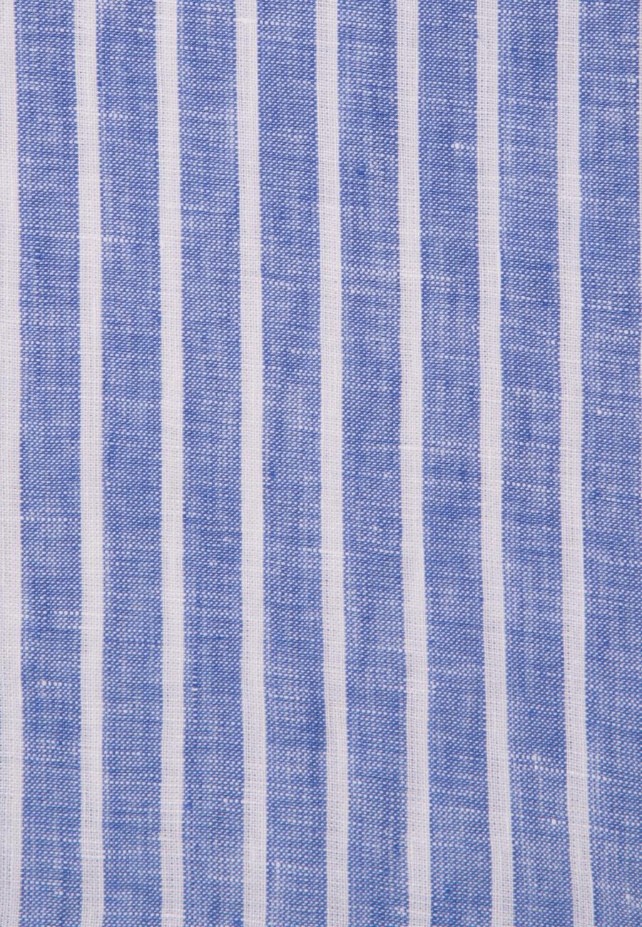 Leinen Midi Kleid aus 100% Leinen in Mittelblau    Seidensticker Onlineshop