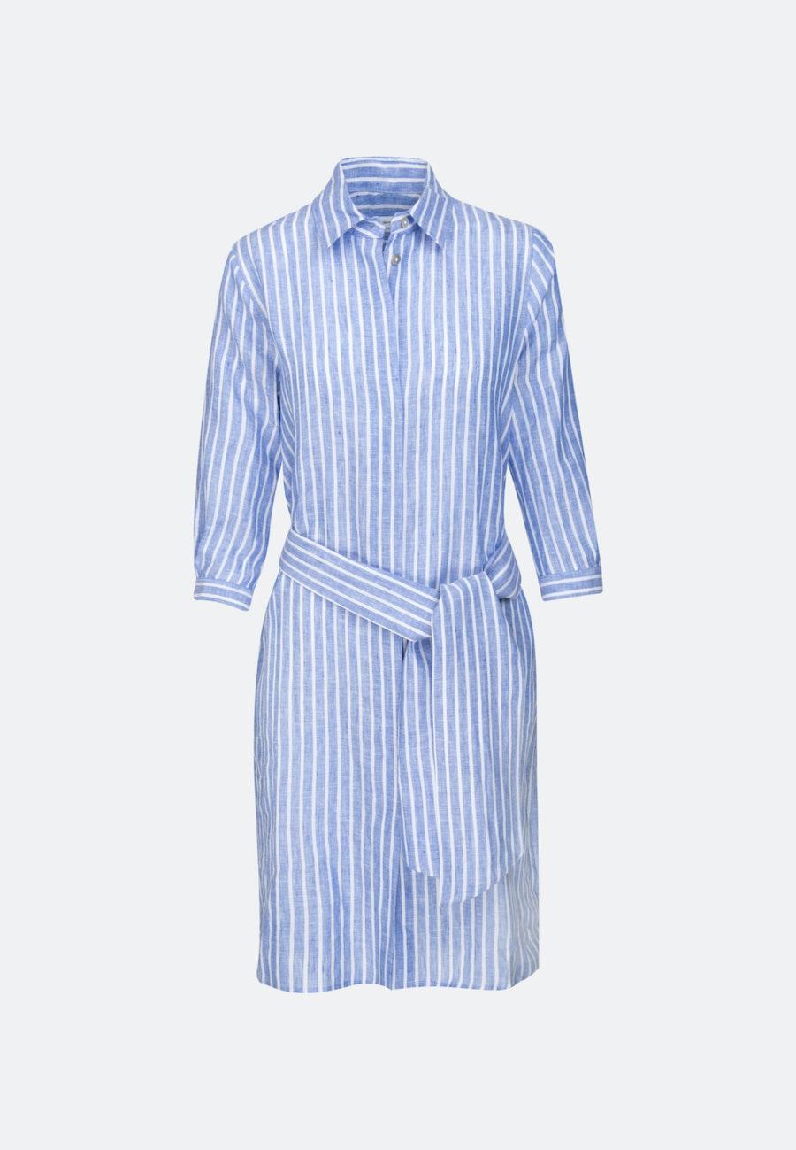Leinen Midi Kleid aus 100% Leinen in Mittelblau |  Seidensticker Onlineshop