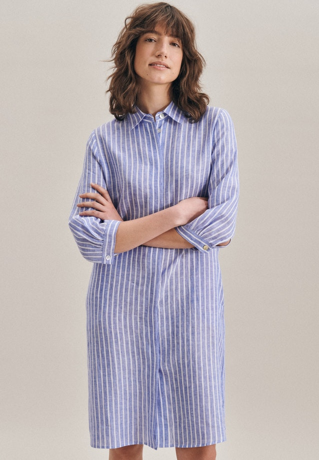 Leinen Midi Dress made of 100% Linen in Medium blue |  Seidensticker Onlineshop