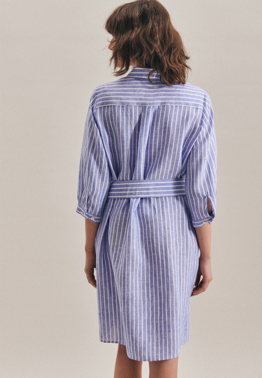 Leinen Midi Dress made of 100% Linen in Medium blue |  Seidensticker Onlineshop