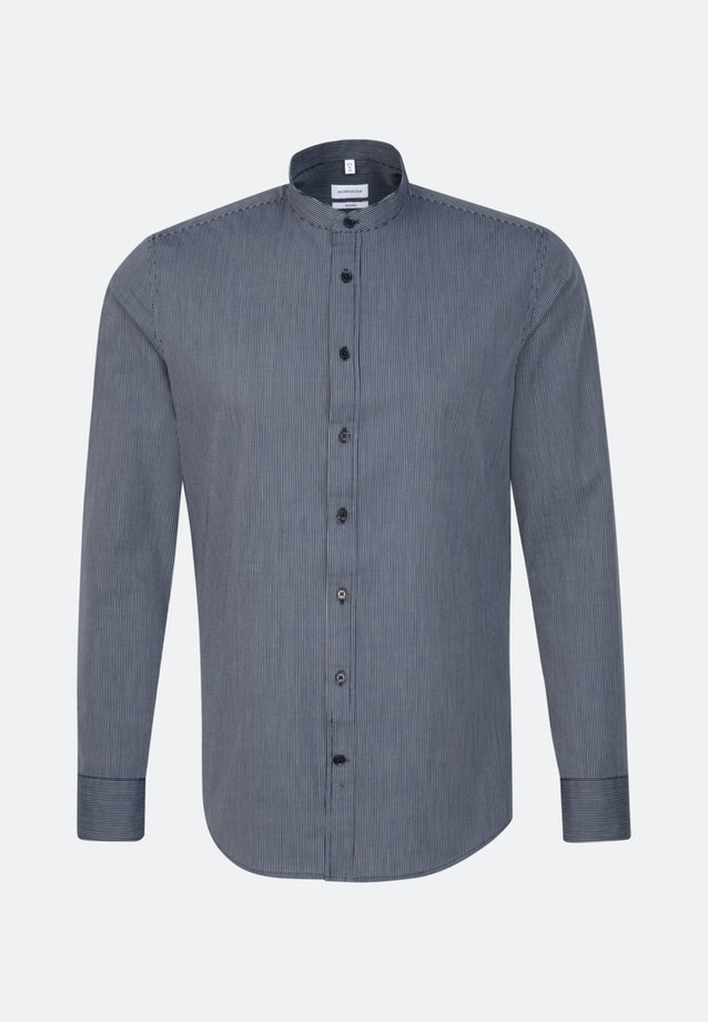 Easy-iron Popeline Business Shirt in Shaped with Stand-Up Collar in Dark blue |  Seidensticker Onlineshop
