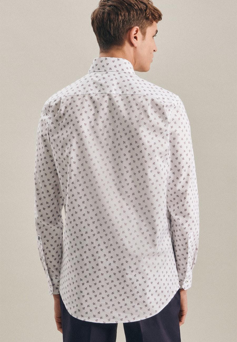 Easy-iron Oxford Business Shirt in X-Slim with Kent-Collar in White    Seidensticker Onlineshop