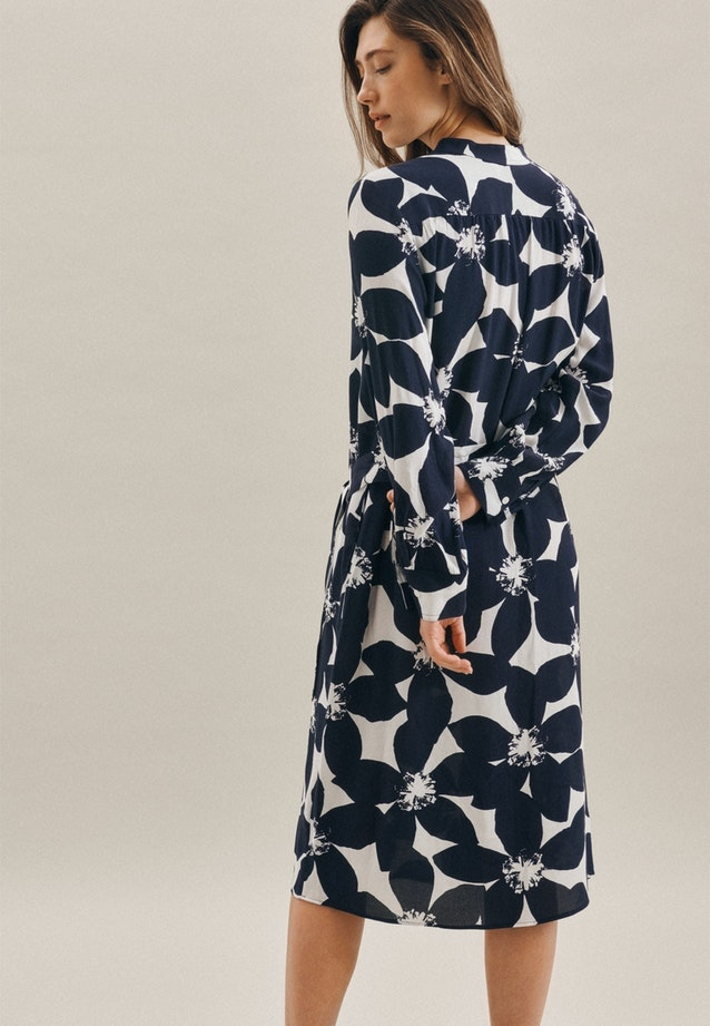Krepp Maxi Dress made of 100% Viscose in Dark blue |  Seidensticker Onlineshop