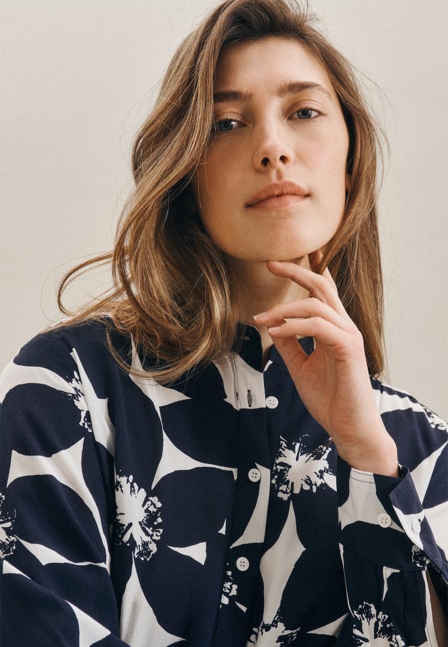 Krepp Maxi Dress made of 100% Viscose in Dark blue |  Seidensticker Onlineshop