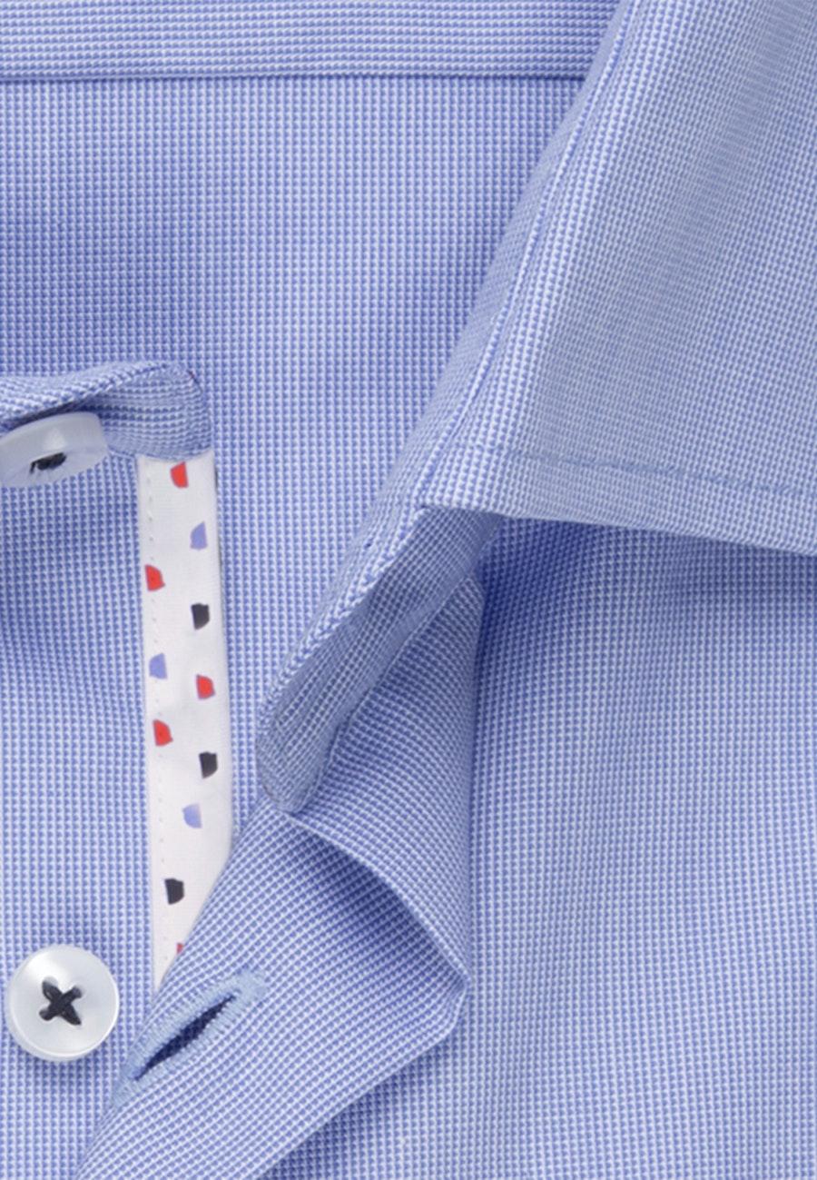 Bügelfreies Struktur Business Hemd in Regular mit Kentkragen und extra langem Arm in Hellblau    Seidensticker Onlineshop