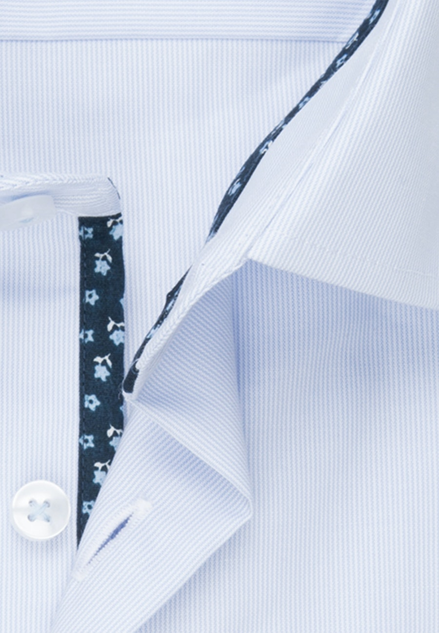 Non-iron Mille Rayé Business Shirt in Shaped with Kent-Collar in Light blue |  Seidensticker Onlineshop