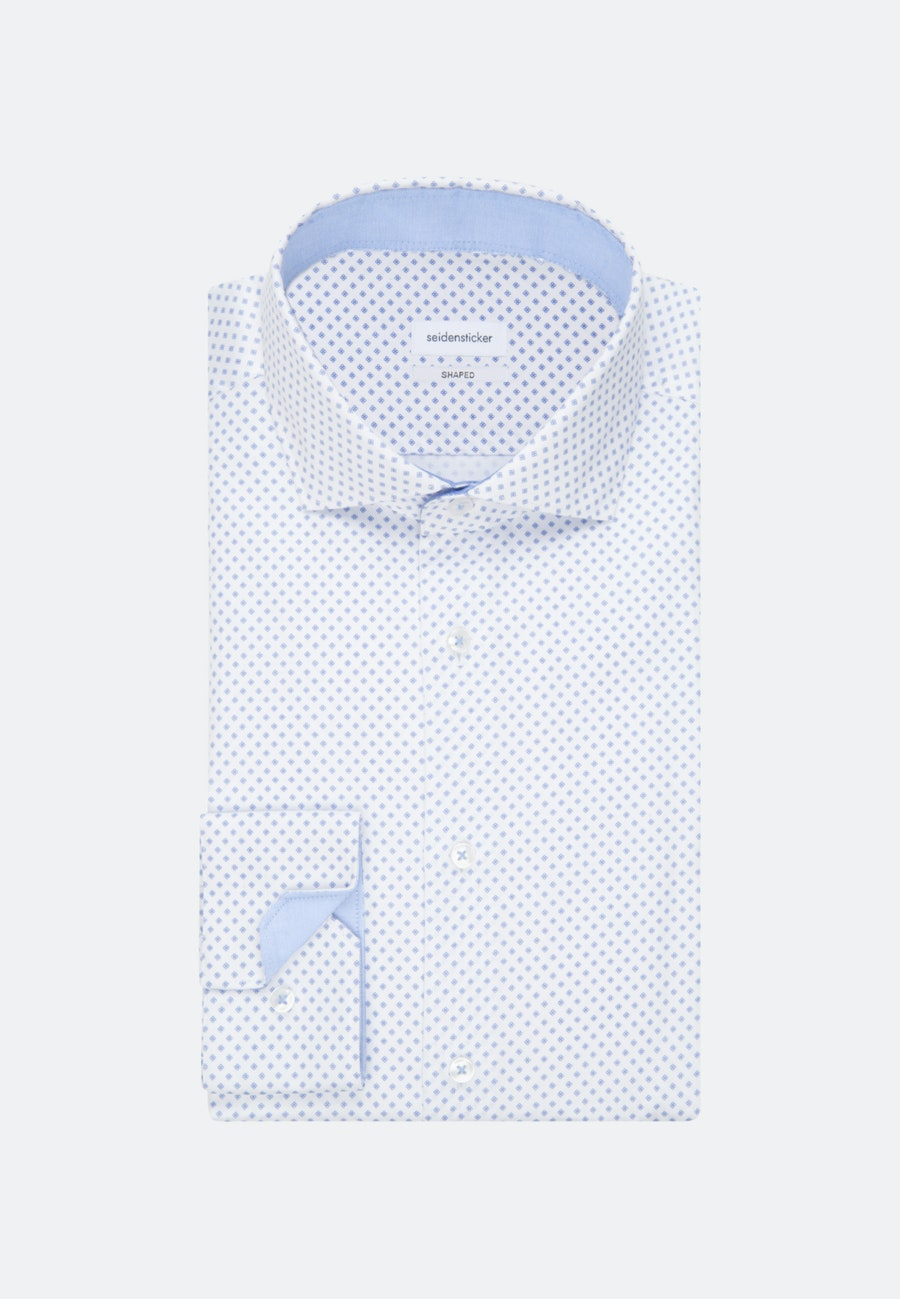 Easy-iron Twill Business Shirt in Shaped with Kent-Collar and extra long sleeve in White |  Seidensticker Onlineshop