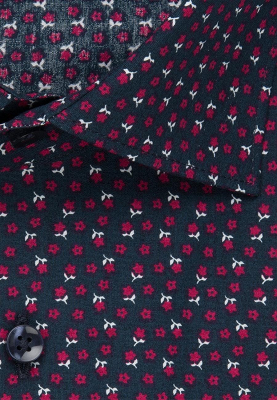 Bügelleichtes Popeline Business Hemd in X-Slim mit Kentkragen in Rot |  Seidensticker Onlineshop