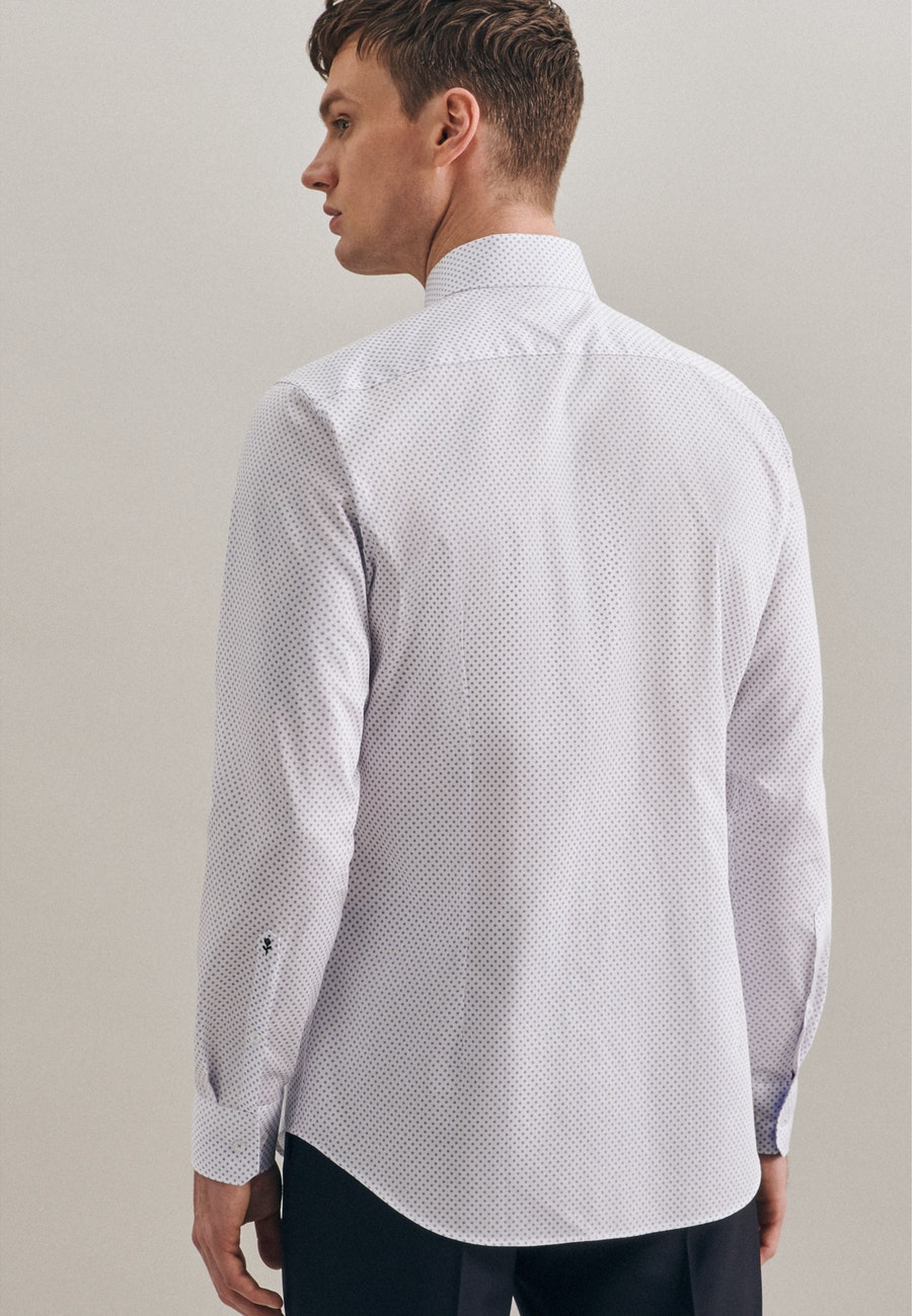 Easy-iron Twill Business Shirt in Slim with Kent-Collar and extra long sleeve in White |  Seidensticker Onlineshop