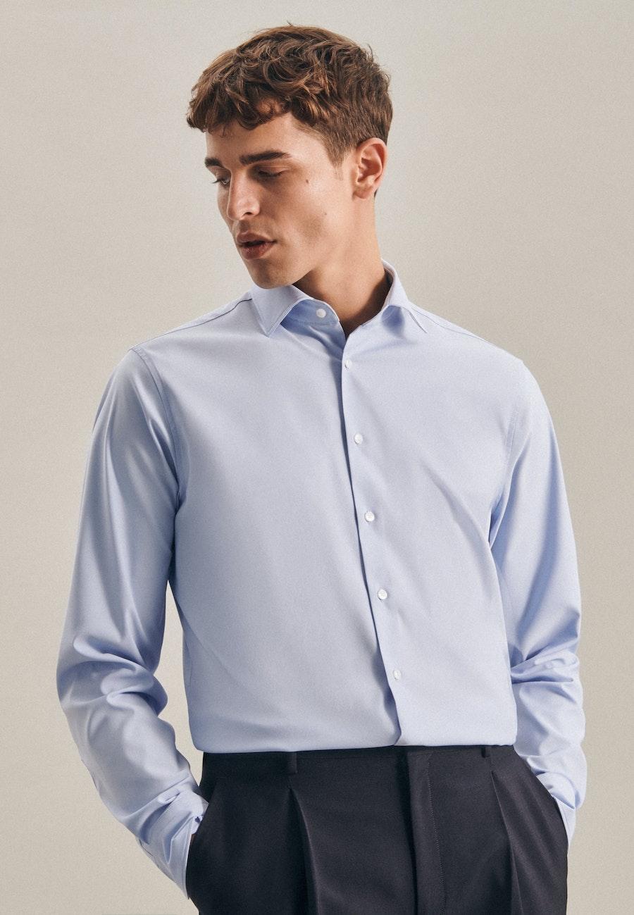 Twill Business Hemd in X-Slim mit Kentkragen in Hellblau    Seidensticker Onlineshop