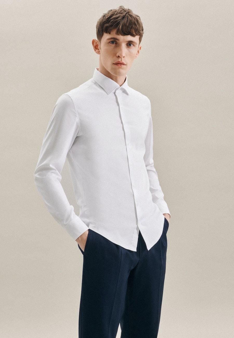Twill Business Shirt in X-Slim with Kent-Collar in White    Seidensticker Onlineshop