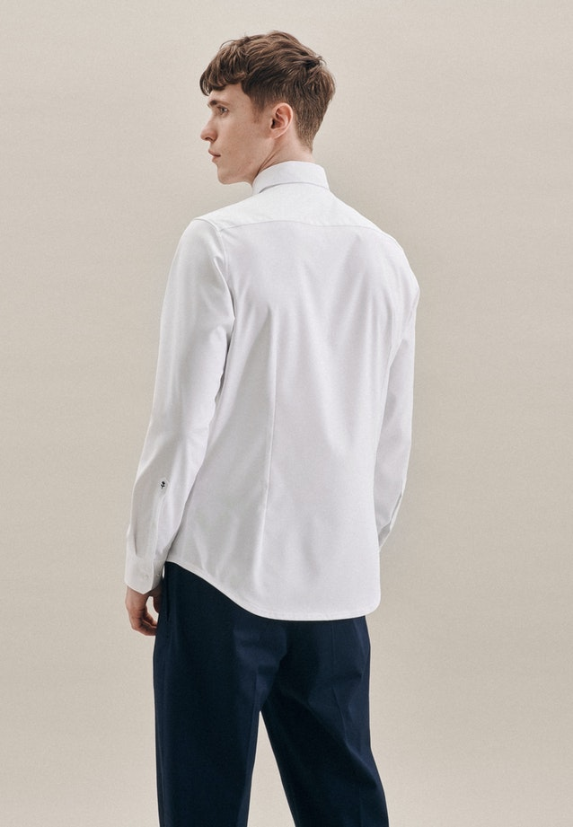 Twill Business Shirt in X-Slim with Kent-Collar in White |  Seidensticker Onlineshop