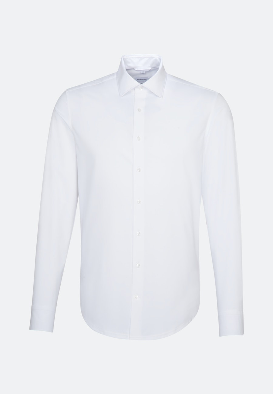 Twill Business Hemd in X-Slim mit Kentkragen in Weiß    Seidensticker Onlineshop