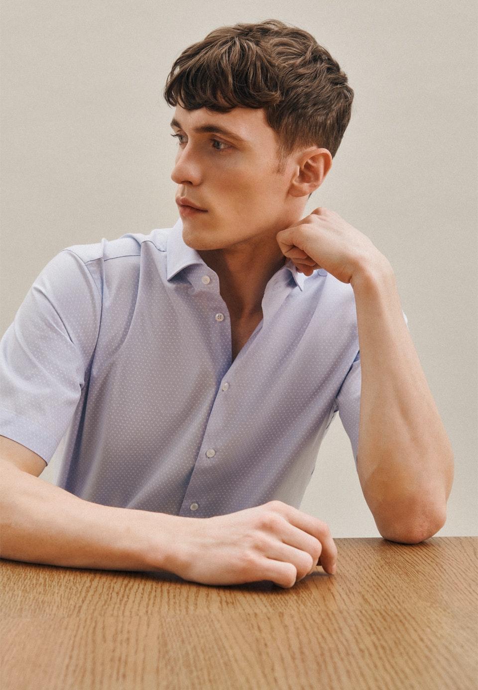 Easy-iron Oxford Short sleeve Business Shirt in Regular with Kent-Collar in Light blue |  Seidensticker Onlineshop
