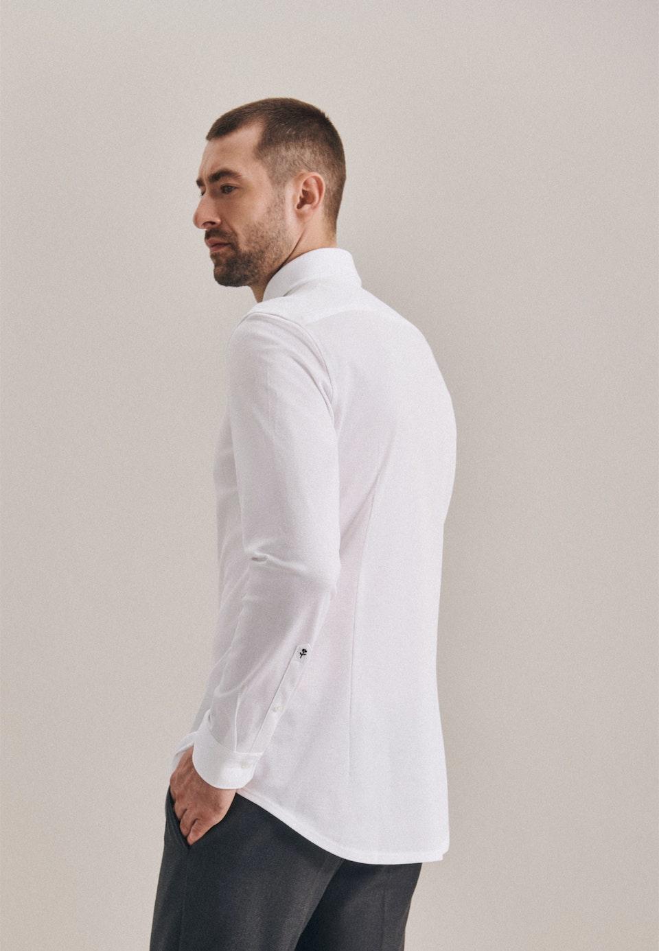 Jersey Business Shirt in Slim with Kent-Collar in White |  Seidensticker Onlineshop
