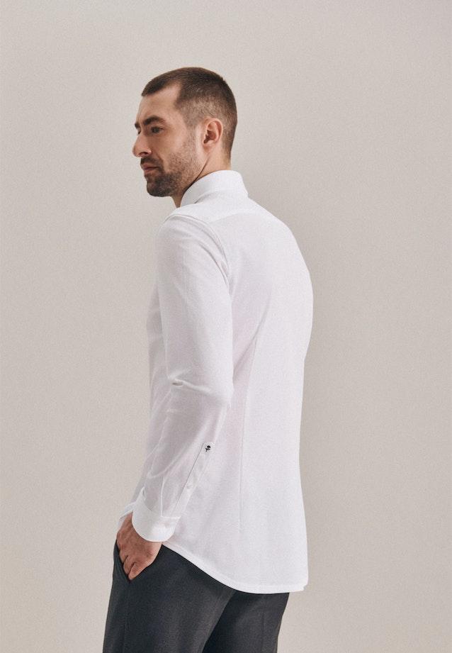 Jersey Business Hemd in Slim mit Kentkragen in Weiß |  Seidensticker Onlineshop