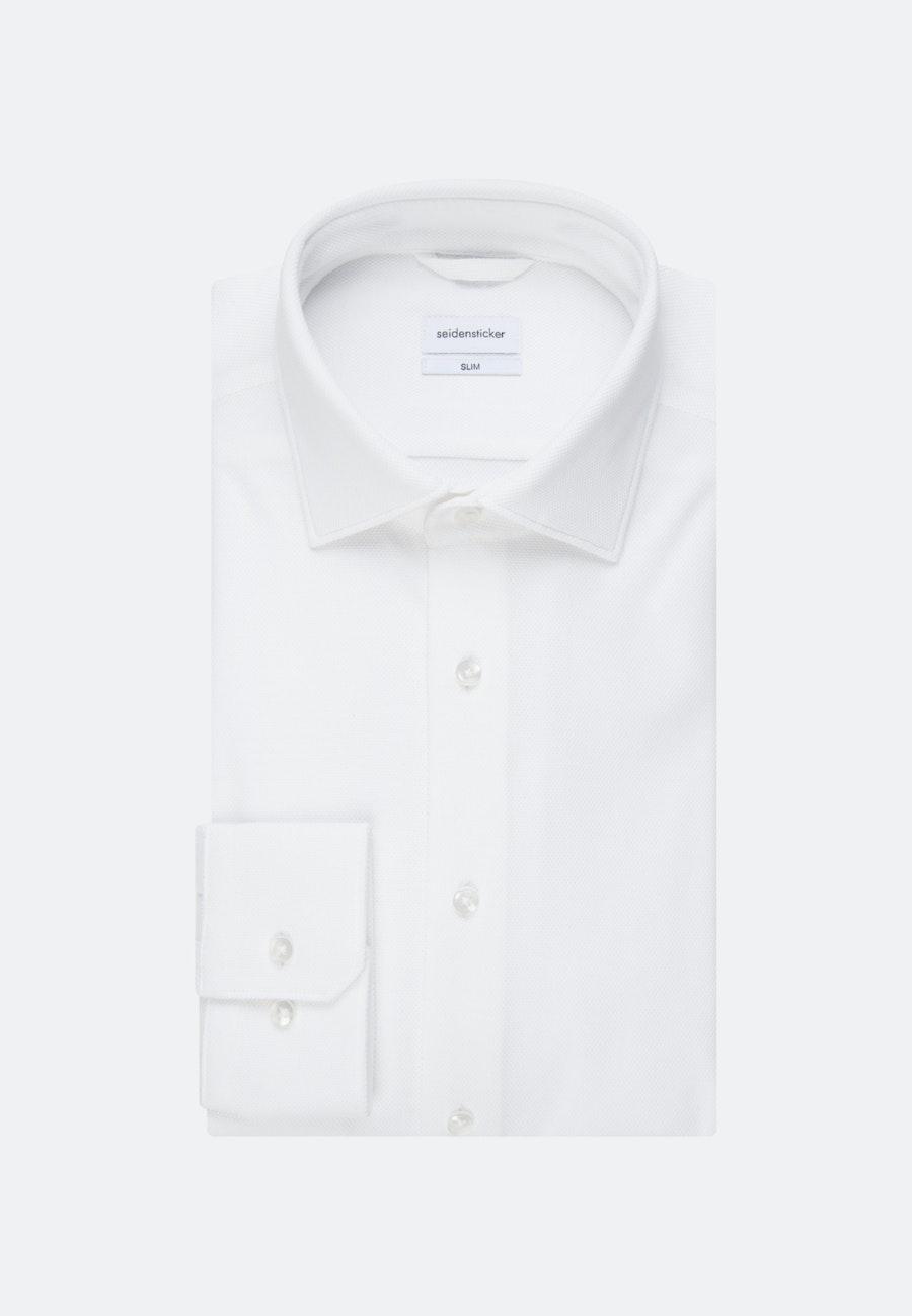 Jersey shirt in Slim with Kent-Collar in White |  Seidensticker Onlineshop