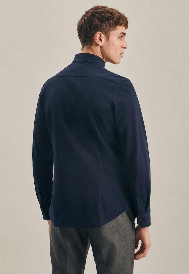 Jersey Business Hemd in Slim mit Kentkragen in Dunkelblau    Seidensticker Onlineshop