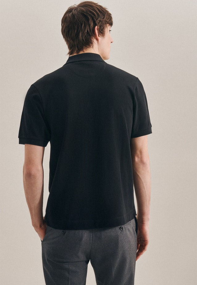 Polo-Shirt Regular made of 100% Cotton in Black |  Seidensticker Onlineshop