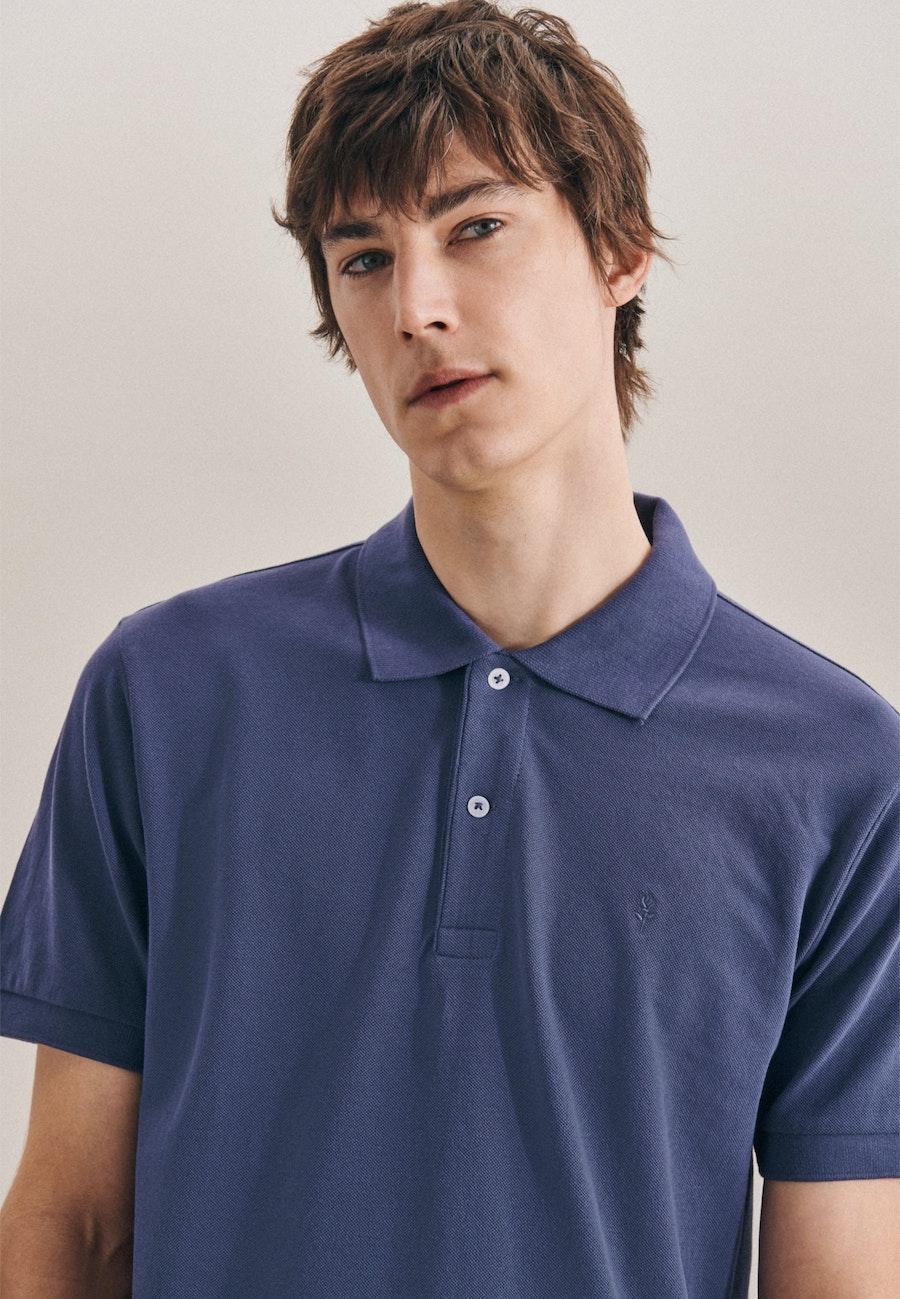 Polo-Shirt Regular made of 100% Cotton in Medium blue |  Seidensticker Onlineshop