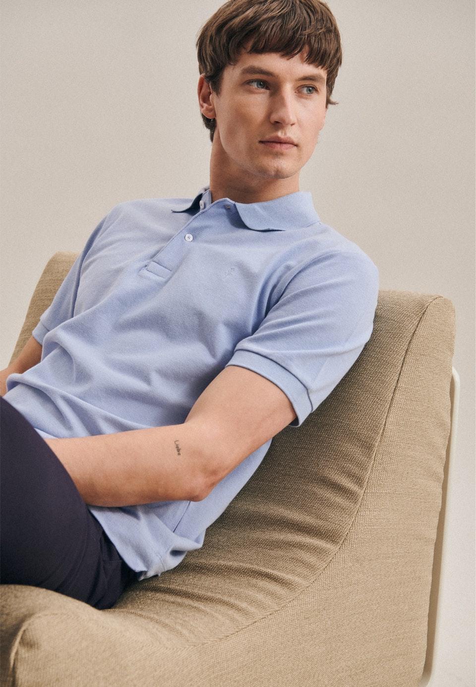 Polo-Shirt Regular made of 100% Cotton in Light blue |  Seidensticker Onlineshop