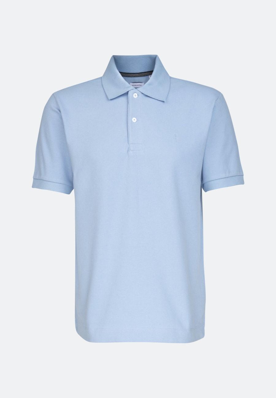 Polo-Shirt Regular aus 100% Baumwolle in Hellblau |  Seidensticker Onlineshop