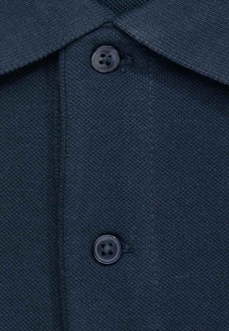 Polo-Shirt Regular aus 100% Baumwolle in Dunkelblau |  Seidensticker Onlineshop