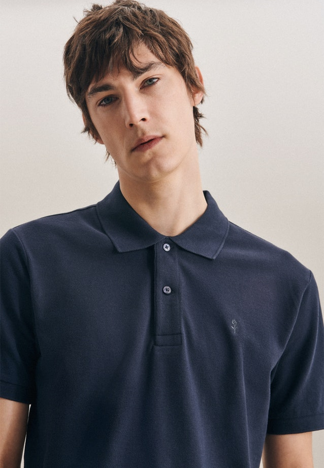 Polo-Shirt Regular made of 100% Cotton in Dark blue |  Seidensticker Onlineshop