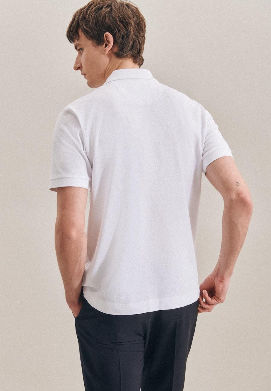 Polo-Shirt Regular aus 100% Baumwolle in Weiß |  Seidensticker Onlineshop