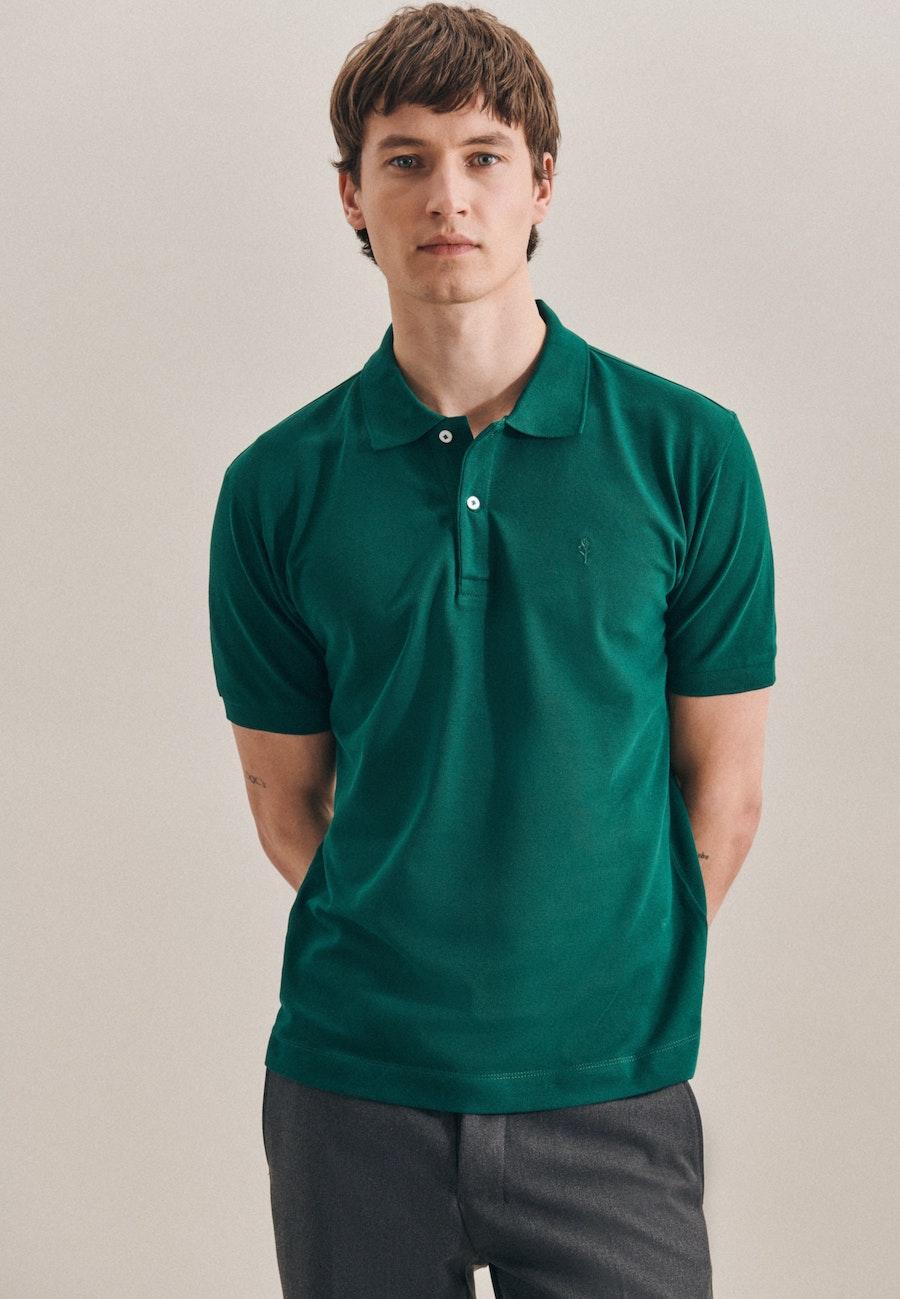 Polo-Shirt Regular aus 100% Baumwolle in Grün |  Seidensticker Onlineshop