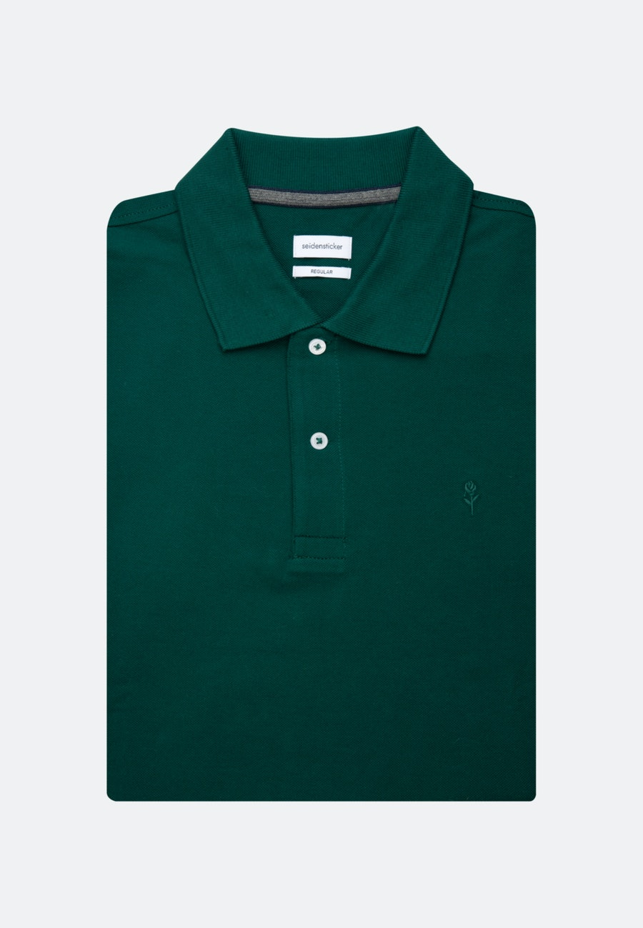 Polo-Shirt Regular aus 100% Baumwolle in Grün |  Seidensticker Onlineshop
