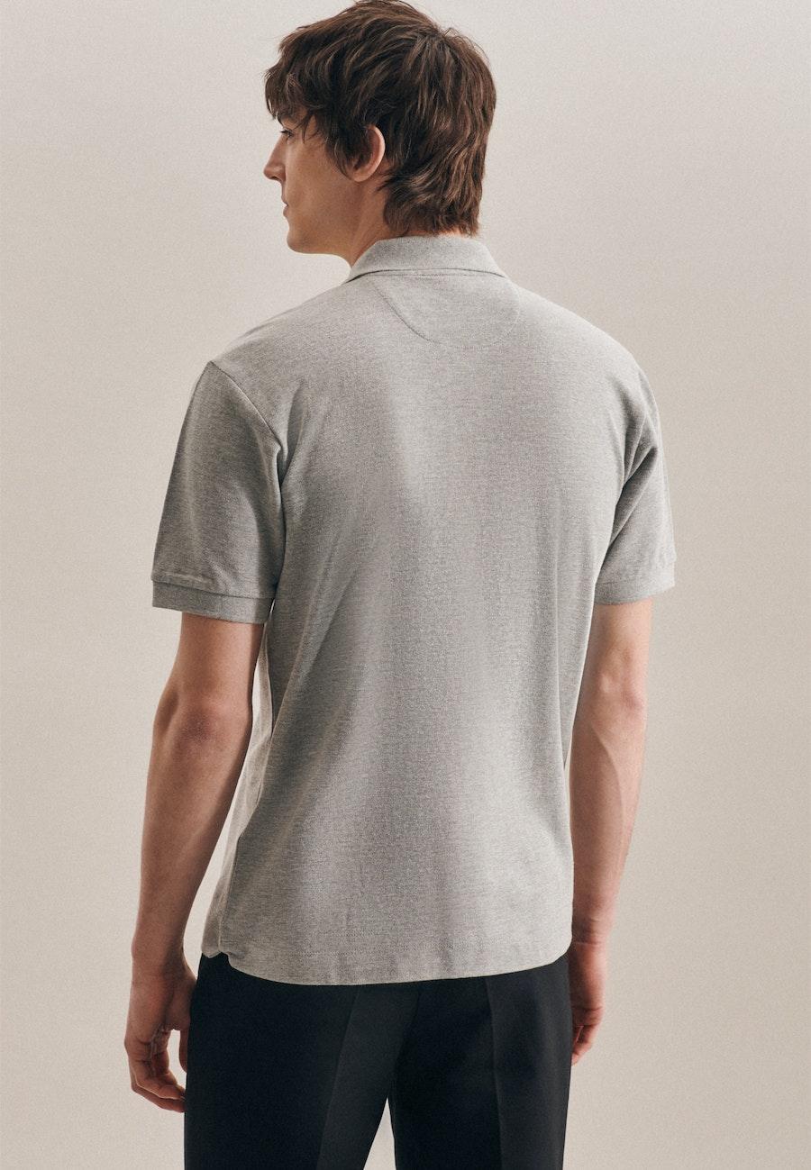 Polo-Shirt Regular aus 100% Baumwolle in Grau |  Seidensticker Onlineshop