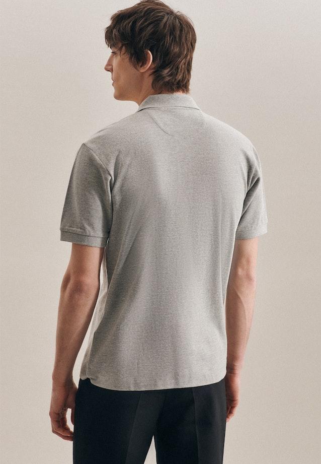 Polo-Shirt Uni in Grau |  Seidensticker Onlineshop