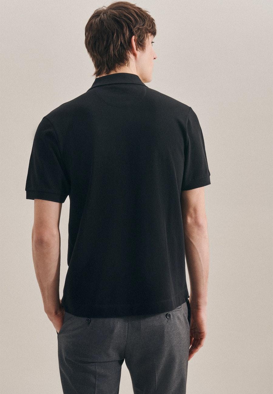 Polo-Shirt Slim made of 100% Cotton in Black |  Seidensticker Onlineshop