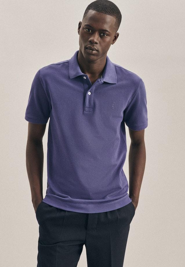 Polo-Shirt Slim aus 100% Baumwolle in Mittelblau |  Seidensticker Onlineshop