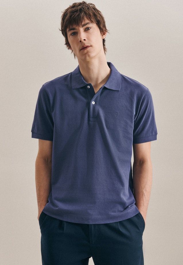 Polo-Shirt Slim made of 100% Cotton in Medium blue |  Seidensticker Onlineshop