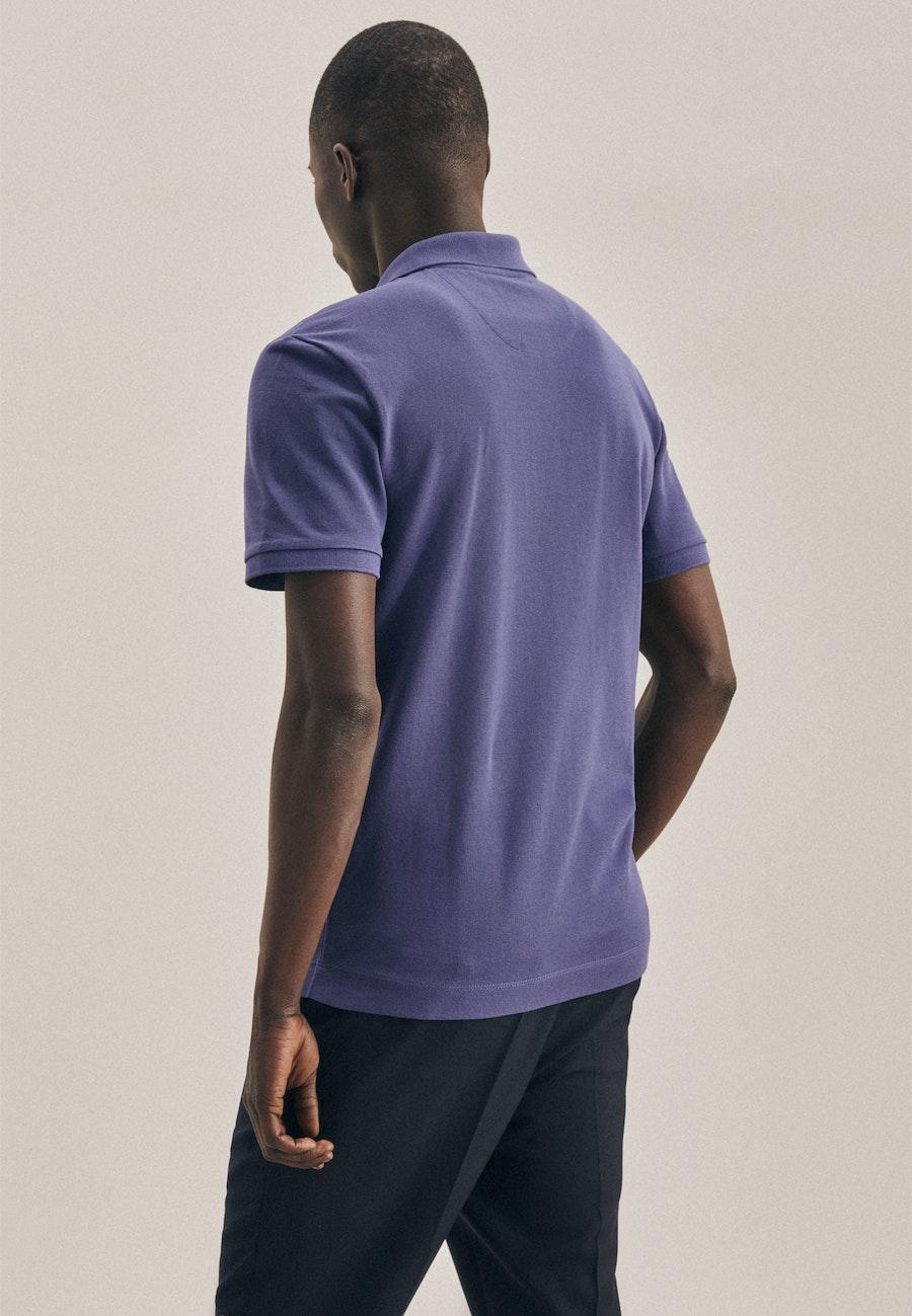 Polo-Shirt Slim aus 100% Baumwolle in Mittelblau    Seidensticker Onlineshop