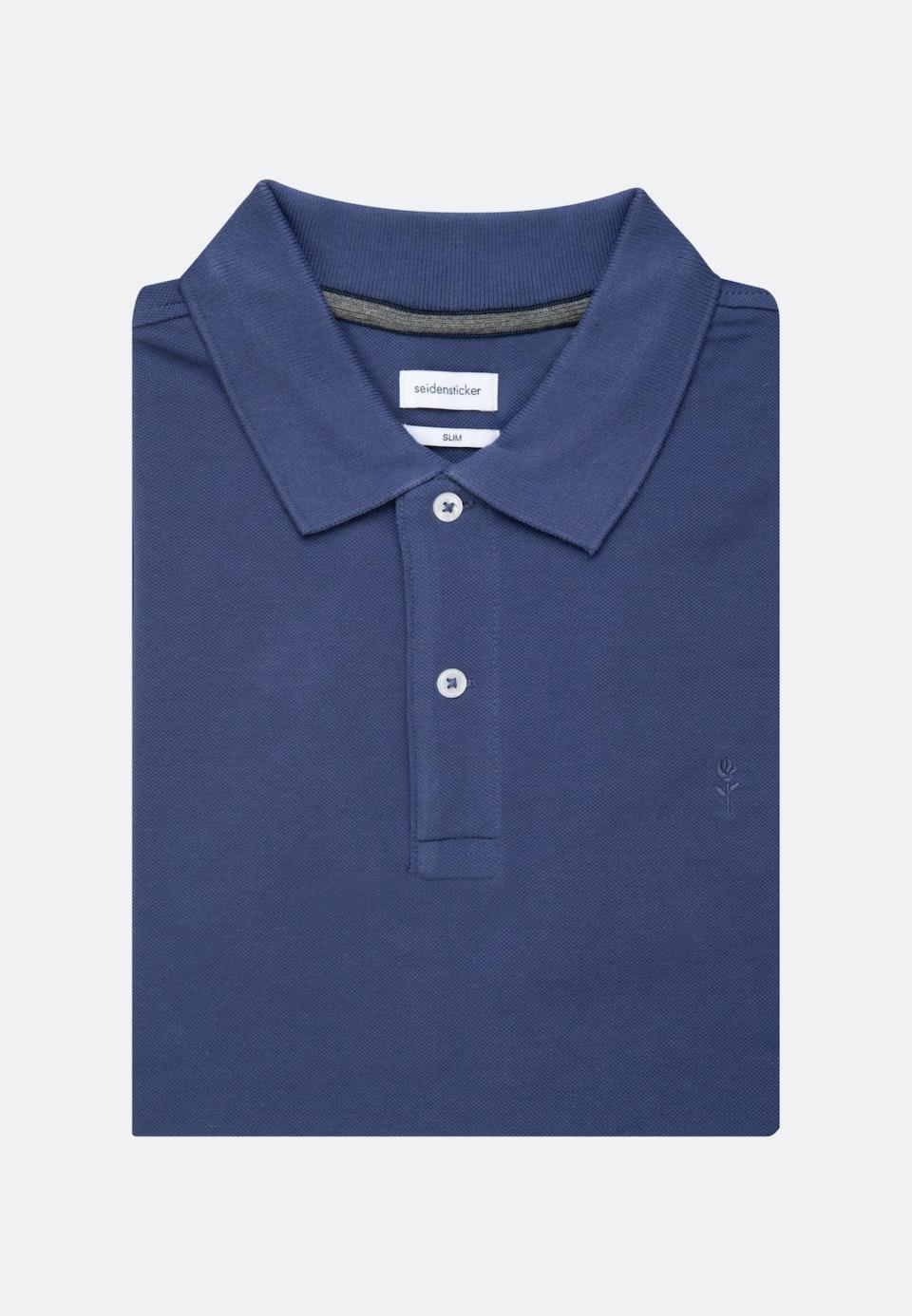 Polo-Shirt Slim made of 100% Cotton in Medium blue |  Seidensticker Onlineshop