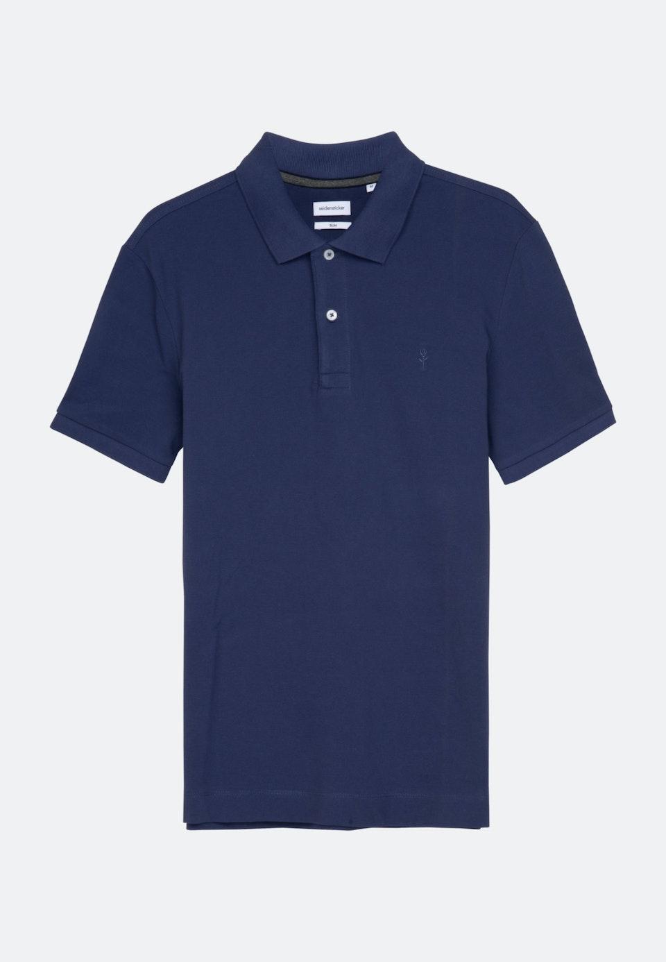 Polo-Shirt Slim made of 100% Cotton in Medium blue    Seidensticker Onlineshop